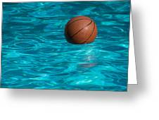 Basketball In The Pool  Greeting Card