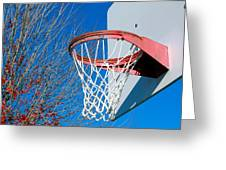 Basketball Net Greeting Card by Valentino Visentini