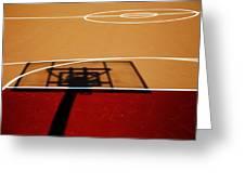 Basketball Shadows Greeting Card