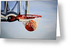 Basketball Shot Greeting Card