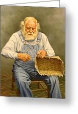Basketmaker  In Oil Greeting Card by Paul Krapf