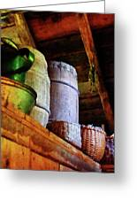Baskets And Barrels In Attic Greeting Card