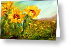 Basking In The Sun Greeting Card by Barbara Pirkle