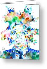 Basquiat Jean Michel Watercolor Portrait Greeting Card