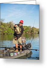 Bass Caught In Austin Texas Greeting Card