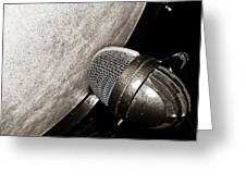 Bass Drum And Mic Greeting Card
