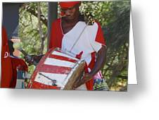 Bass Drummer Labadee Haiti Greeting Card