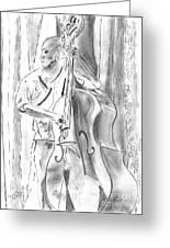 Bass Fiddle Blues Greeting Card by Elizabeth Briggs