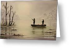 Bass Fishing In Florida Greeting Card