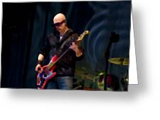 Bass  Guitar Greeting Card by Tony Reddington