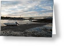 Bass Harbor At Low Tide Greeting Card