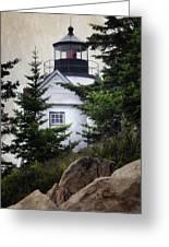 Bass Harbor Head Light Greeting Card