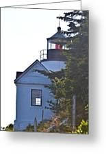 Bass Harbor Headlight Greeting Card