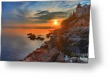 Bass Harbor Sunset Greeting Card