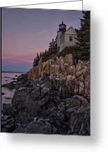 Bass Head Lighthouse Sunrise Greeting Card