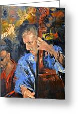 Bass Man Greeting Card by Anthony Falbo