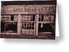 Bass Sales Co Cairo Il Monotoneimg 2962  Greeting Card