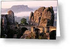 Bastei, Saxonian Switzerland National Greeting Card