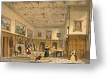 Bat Game In The Grand Hall, Parham Greeting Card