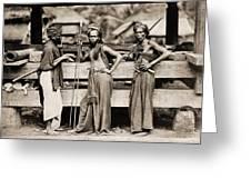 Batak Warriors In Indonesia 1870 Greeting Card