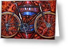 Bates Bicycle Greeting Card by Mark Howard Jones
