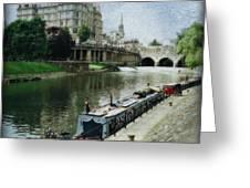 Bath Canal Greeting Card