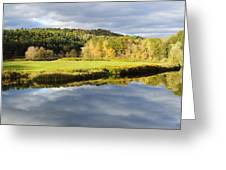 Bath Nh Autumn Panorama Greeting Card