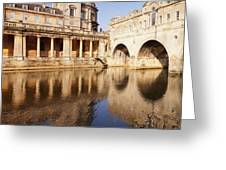 Bath Pulteney Bridge And Colonnade Bath Greeting Card by Colin and Linda McKie
