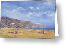 Bathers, Gozo  Greeting Card