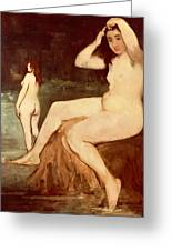Bathers On Seine Greeting Card
