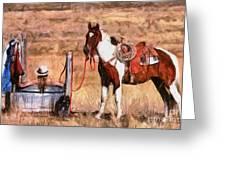 Bathing Cowgirl Greeting Card