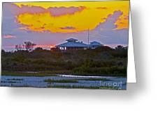 Bathouse Sunset Greeting Card