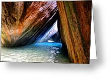 Baths In Virgin Gorda Greeting Card