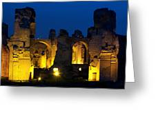Baths Of Caracalla Greeting Card