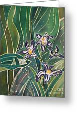 Batik Detail - Pushkinia Greeting Card by Anna Lisa Yoder