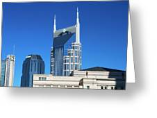 Batman Building And Nashville Skyline Greeting Card