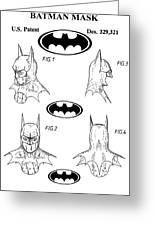 Batman Face Guard Greeting Card