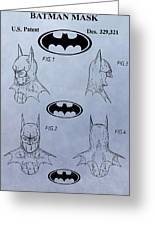 Batman Mask Patent Greeting Card