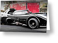 Batmobile Greeting Card