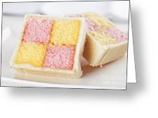 Battenberg Cakes Greeting Card