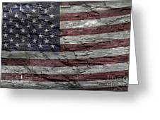 Battered Old Glory Greeting Card
