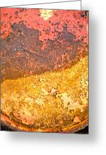 Battered To Rust Greeting Card