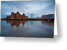 Battersea Power Plant. Greeting Card