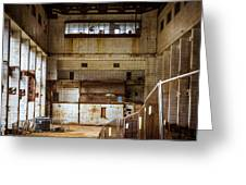 Battersea Power Station Interior Greeting Card