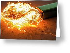 Battery And Steel Wool Greeting Card