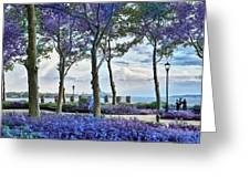 Battery Park In The Spring Greeting Card