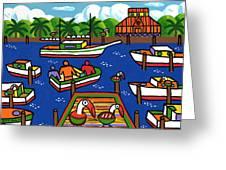 Battery Pier - Apalachicola Greeting Card