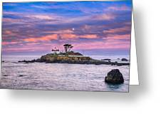 Battery Point Lighthouse And Moon Greeting Card