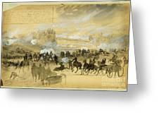 Battle At White Oak Swamp Bridge Greeting Card