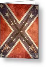 Battle Flag Civil War Confederate States Greeting Card